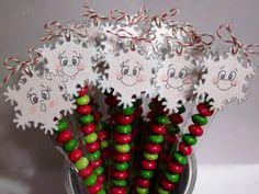 Snowflake Skittle Sticks