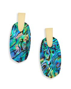 Shop gold statement earrings at Kendra Scott. With bold ovals made of Abalone Shell - the Aragon statement gold earrings are must have trendy jewelry.
