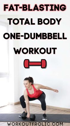If you are looking for a killer, effective full body workout that you can do at home - this is it! The best part - all you need is a single dumbbell! #homeworkout #dumbbellworkout One Dumbbell Workout, Strength Workout, Dumbbell Exercises, Workout Guide, Post Workout, Workout Routines, Functional Workouts, At Home Workouts, Daily Workouts