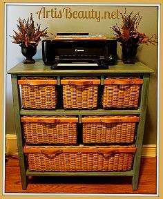 Come check out how I took a beat up old storage dresser and turned it into a classy organization center