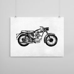 My first illustration of a BSA Super Rocket. Our 1959 model has been a long-time treasured member of our household. Museum-quality print made on thick, durable, matte paper. Printed on archival, acid-
