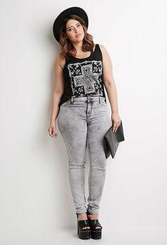 Plus Size Cloud Wash Jeans | Forever 21 PLUS - 2000097138