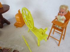Vintage 1973 Mattel Sunshine Family Home Dolls Baby Accessories   eBay