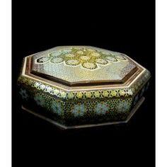 Khatam , Inlaid hexagonal candy dish
