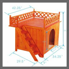 NEW RAISED WOODEN DOG KENNEL HOUSE WITH ROOF DECK-in Dogs from Home & Garden on Aliexpress.com