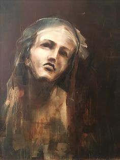 """""""Dear God,"""" she prayed, """"let me be something every minute of every hour of my life"""" Oil on Polyester Nicole Pletts Art Faces, Face Art, Dear God, Contemporary Paintings, Of My Life, Pray, Portraits, Oil, Let It Be"""