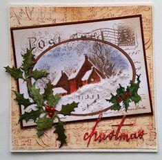 Mrs. B's Crafting Addiction: Snowy postcard