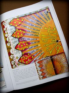 Art Journaling Magazine Art Camp for Women The butterfly wings and the center hole book
