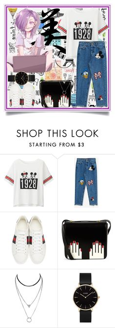 """""""Untitled #157"""" by j4wahir ❤ liked on Polyvore featuring Uniqlo, Pull&Bear, Gucci, Lulu Guinness and CLUSE"""