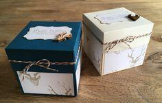 "Gastgeschenke - Explosionsbox ""Hirsch"" - ein Designerstück von The-creative-things bei DaWanda Creative Things, Container, Gift Wrapping, Gifts, Favors, Thanks, Basteln, Paper Wrapping, Wrapping Gifts"