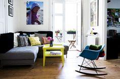 decoração de loft sala de estar
