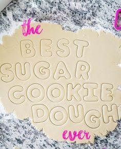 The Best Sugar Cookie Recipe Best Sugar Cookie Recipe, Cookie Dough Recipes, Sugar Cookie Dough, Best Sugar Cookies, Iced Cookies, Cut Out Cookies, Royal Icing Cookies, Holiday Cookies, Cake Cookies