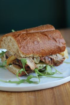 Grilled Pork Apple and Arugula Sandwiches from Pidges Pantry