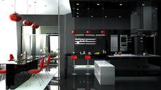 стиль хайтек на кухне (high tech kitchen design)