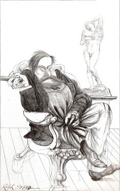 Sigmund Freud (1978) by Ralph Steadman