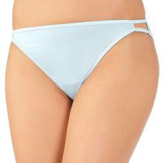 Vanity Fair Illumination String Bikini Panty 18108, Women's, Size: 7, Light Blue