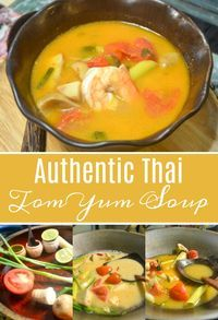 Authentic Tom Yum Soup Recipe straight from Bangkok, Thailand! This Tom Yum Soup recipe is legit—straight from Bangkok, Thailand, courtesy of Silom Thai Cooking School. Thai Cooking, Asian Cooking, Cooking Recipes, Cooking Food, Seafood Recipes, Asian Recipes, Healthy Recipes, Chinese Soup Recipes, Planks