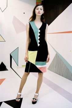 Edeline Lee Spring 2016 Ready-to-Wear Fashion Show  ...not exactly a classic LBD but MAJOR possibilities with blocking & trim...