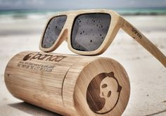 Panda Sunglasses are made from bamboo, a renewable and sustainable resource.