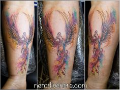 #tattoo #phoenix #tatuaggio #tattooartist #tattoogirl #suicidegirl #inkedgirl #watercolor #illustration #artwork #sketch #colorful #artoftheday #ink #artist #picoftheday #instagirl #inkideas #inked #tattooart #drawing #selfie #tattoolife #inkedup #tattooist