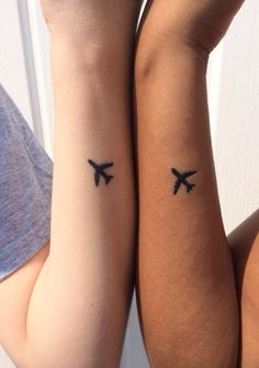 Travel airplane tattoo