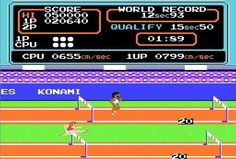 Check out the game Track & Field for Nintendo NES and also other video games for all kinds of retro computers and video game consoles. All about retro games on RETROTIP. 80s Video Games, Vintage Video Games, Classic Video Games, Nes Games, Nintendo Games, Arcade Games, Puzzle Games, Retro Arcade, Retro Gamer