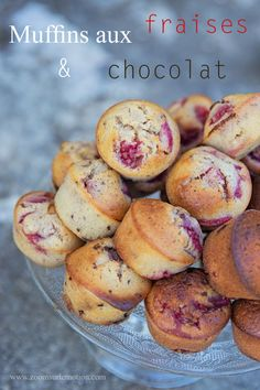 Muffins aux fraises et pépites de chocolat