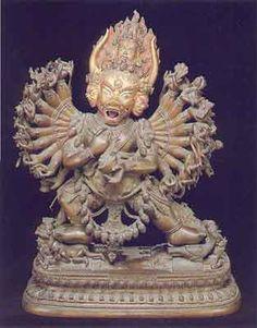 The Dharma protectors [picture shows Yamantaka, Deity of Wisdom.]