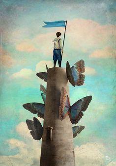 Weltenwanderer by Christian Schloe Art Print