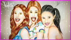 Martina Stoessel | Drawing Violetta, Camila and Francesca