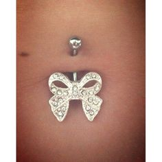 Crystalline Gem Beauteous Bow Belly Ring | Body Candy Body Jewelry #bodycandy #bellyrings