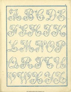 Free Easy Cross, Pattern Maker, PCStitch Charts + Free Historic Old Pattern Books: Fr - Alexandre Embroidery Alphabet, Embroidery Monogram, Cross Stitch Alphabet, Cross Stitch Charts, Ribbon Embroidery, Cross Stitch Embroidery, Cross Stitch Patterns, Embroidery Designs, Vintage Embroidery