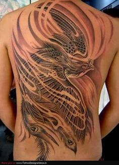 29 Phoenix tattoo - New Tattoo Trend Spine Tattoo For Men, Phoenix Tattoo For Men, Phoenix Bird Tattoos, Phoenix Tattoo Design, Spine Tattoos, Back Tattoo Women, Tattoo Girls, Sleeve Tattoos, Tribal Back Tattoos
