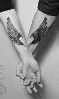 Tattoo casal ASAS ❤ Usem a // . - Tattoos of Hannah Tattoos For Lovers, Bff Tattoos, Body Art Tattoos, Sleeve Tattoos, Tattoos For Women, Tattoo Quotes, Tatoos, Amor Tattoo, Couple Tattoos Unique Meaningful
