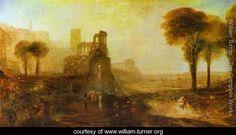 Caligula's Palace and Bridge - Joseph Mallord William Turner - www.william-turner.org