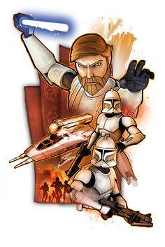 Obi-Wan Kenobi with Clones by SteveAndersonDesign.deviantart.com on @deviantART