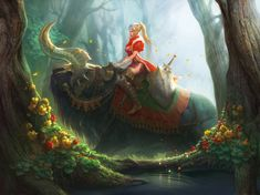 wall papers, female   ... 2d, illustration, girl, fantasy, princess, wallpaper, forest, warrior