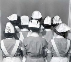 Nurses caps before they were part of a haloween costume