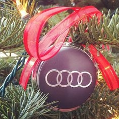 Little touch of Audi in Christmas decorations.