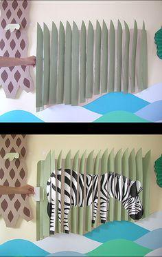 zebra - Giant pop-up zebra Cheong-ah Hwang papernoodle  www.papernoodle.com