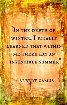 albert camus. invincible summer