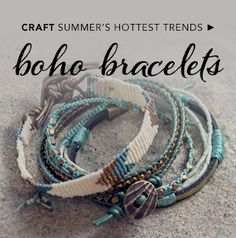 Fusion Beads | Where your jewelry begins | Oh my gosh! I'm in love with these bracelets. I want to stack a bunch on my wrist and make them in all different colors so I can wear them with all of my outfits. Wrapped bracelets galore! Best part? I can make them all myself! DIY jewelry!