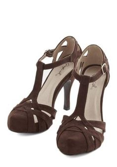 With Haute a Doubt Heel in Cocoa, #ModCloth by elva