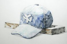 Watercolor Illustration, Watercolor Art, Art Lessons, Baseball Hats, Painting, Color Art Lessons, Baseball Caps, Watercolor Painting, Painting Art