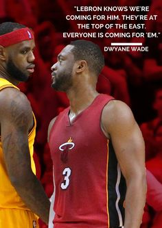 Dwyane Wade and the Miami Heat have big plans for former teammate LeBron James.