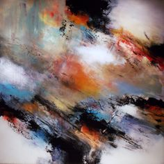 """Abstract Painting """"Nimbus"""" by Jeffrey Bisaillon"""