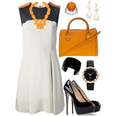 A fashion look from September 2014 featuring 3.1 Phillip Lim dresses, Giuseppe Zanotti pumps y Victoria Beckham tote bags. Browse and shop related looks.
