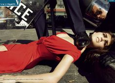 """State Of Emergency"" Vogue Italia September 2006 Photographer: Steven Meisel Models: Hilary Rhoda and Iselin Steiro Steven Meisel, Carmen Kass, Guy Bourdin, Terry Richardson, Paolo Roversi, Vogue Paris, Fashion Images, Fashion Models, High Fashion"