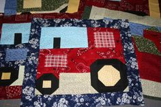 I designed this quilt block for my son.
