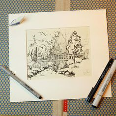 Hey Prague people. This Sunday I invite you to my marker sketching workshop. This time well be drawing trees and other vegetation. I will help you to fall in live with markers and to just enjoy the drawing process. No previous expirience needed. Well provide all the materials. Only few places left so hurry up. >>Link in profile.